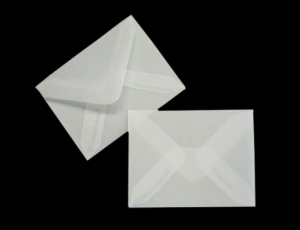 transparente Briefumschläge 65 x 85mm