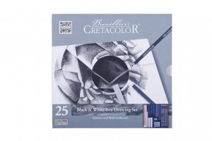 CRETACOLOR - Black & White Box Metalletui