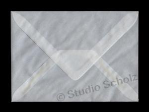 transparente Briefumschläge DIN C6 gummiert