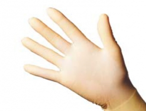1 Paar Schutzhandschuhe - Latex M