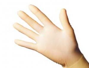 1 Paar Schutzhandschuhe - Latex L