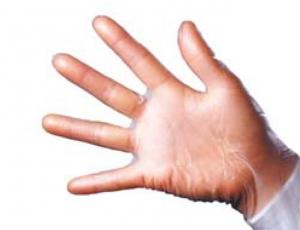 1 Paar Schutzhandschuhe - Vinyl L