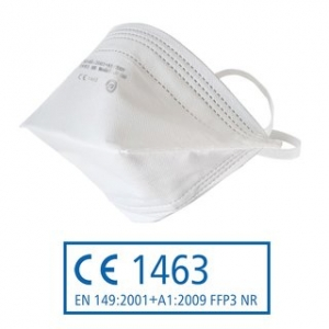 FFP3 Atemschutzmaske - gefaltet - ohne Ventil